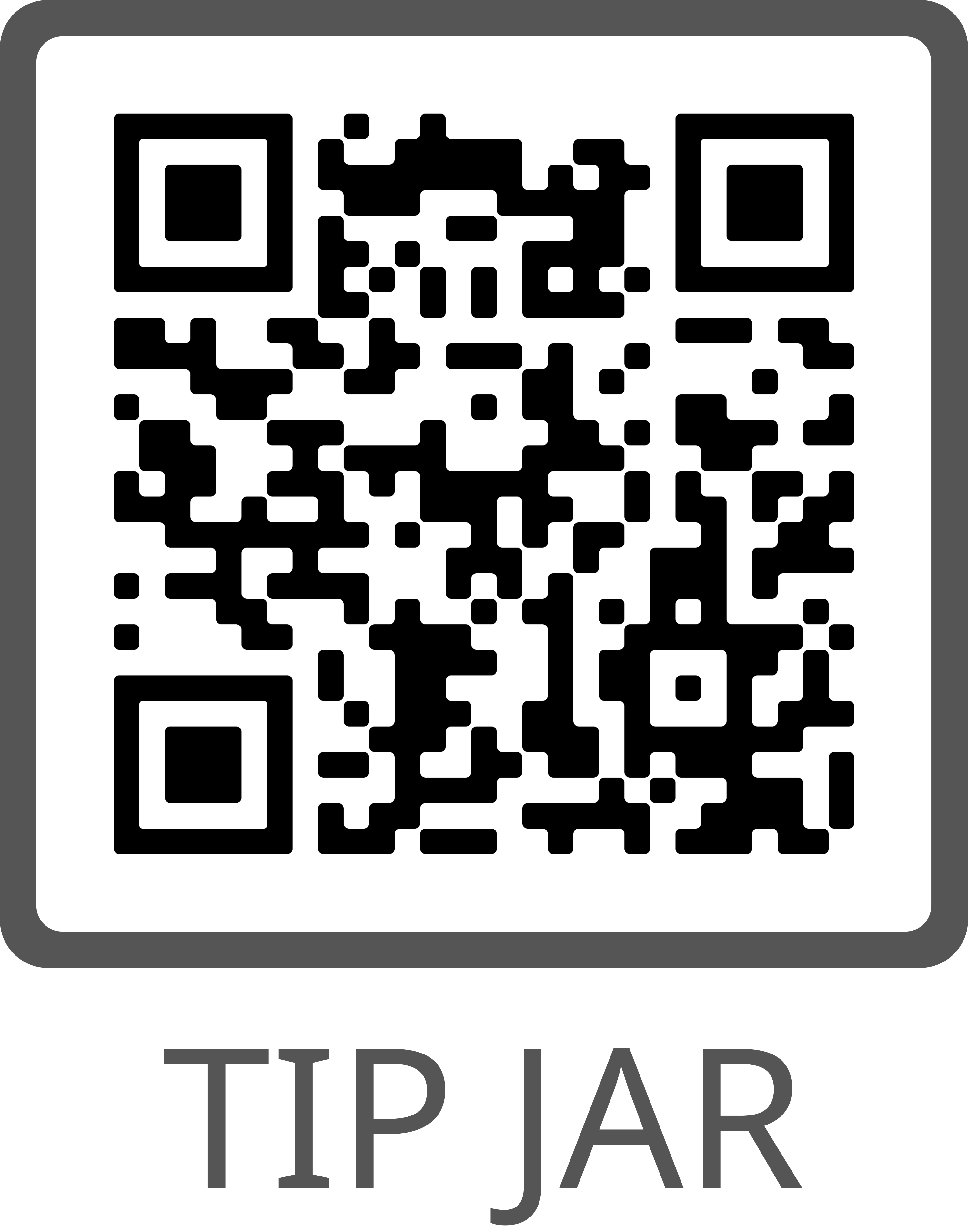 QR Code linking to a CRO address for providing tips